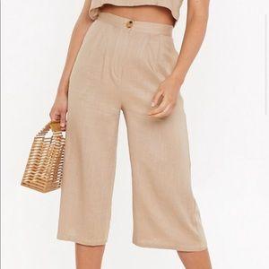 Nasty Gal Linen Culottes